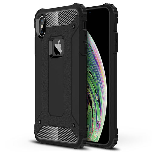 Military Defender Shockproof Case for Apple iPhone Xs Max - Black